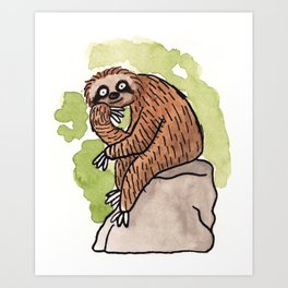 Feeling Philoslothical Art Print