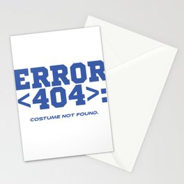 """A Coding Tee For Programmer """"Error <404>: Costume Not Found"""" T-shirt Design Computer Code Stationery Cards"""