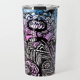 Henna Lotus Hand Travel Mug