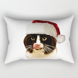 Naughty List Cat Rectangular Pillow