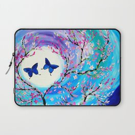 Butterflies with aqua, blue, green and purple Laptop Sleeve