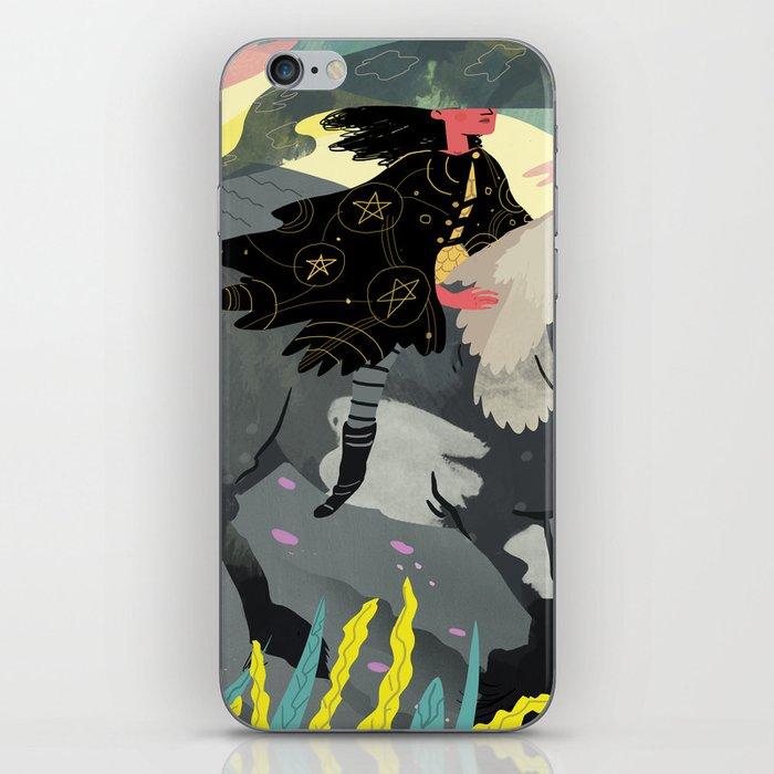 The Knight Of Pentacles iPhone Skin by alekssennwald