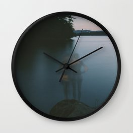 Ghost Swimmers Wall Clock