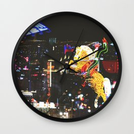 Vegas Night Life Wall Clock