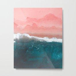 Turquoise Sea Pastel Beach II Metal Print