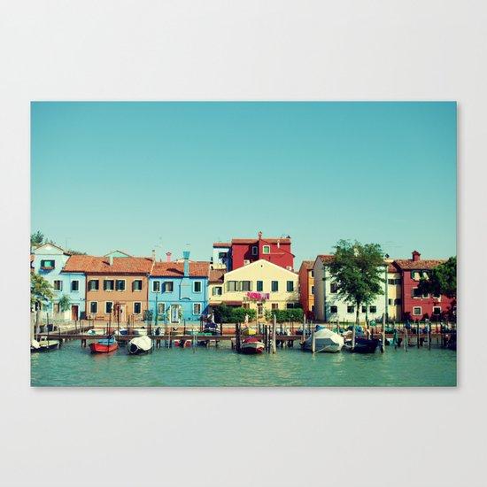Burano, the beautiful Canvas Print