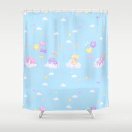 Bubbly Mice Sky Shower Curtain