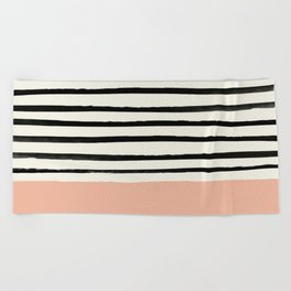 Peach x Stripes Beach Towel
