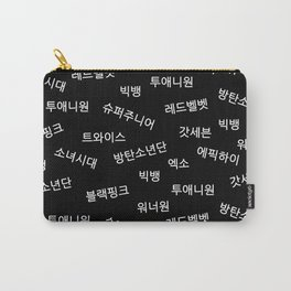 Kpop Group Names in Korean Carry-All Pouch