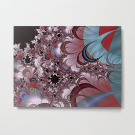 Strawberry Cream Moons Fractal Metal Print