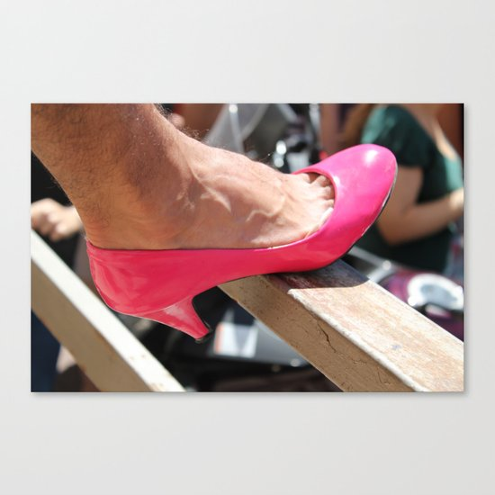 pink shoe Canvas Print