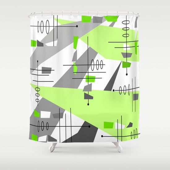 Mid Century Modern Atomic Age Abstract Shower Curtain By Kippygirl