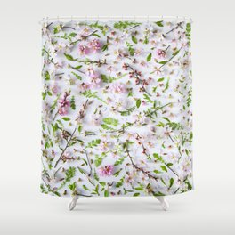 Leaves and flowers pattern (26) Shower Curtain