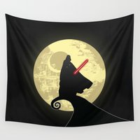 nightmare before christmas Wall Tapestries featuring Vader's Nightmare Before by kamonkey