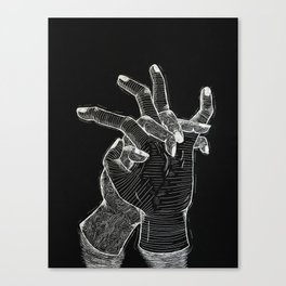 Thoughts on Death Canvas Print