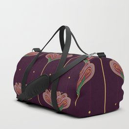 Wallpaper Floral Pattern In Style OF William Morris Duffle Bag