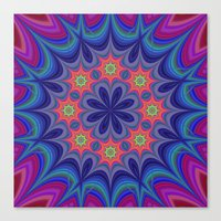 kaleidoscope Canvas Prints featuring Kaleidoscope by David Zydd
