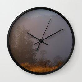 Morning Mist Poon Hil Wall Clock