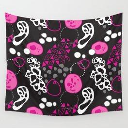 Amoeba Amoeba Pink Wall Tapestry