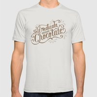 Chocolate RX Mens Fitted Tee Silver LARGE