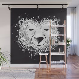 Dreaming Polar Bear Wall Mural