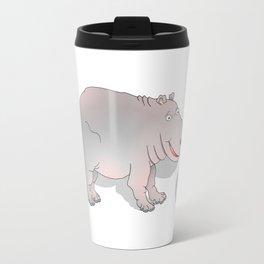 Hippo playing Football Travel Mug