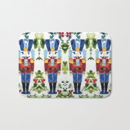 Nutcracker Blue Bath Mat