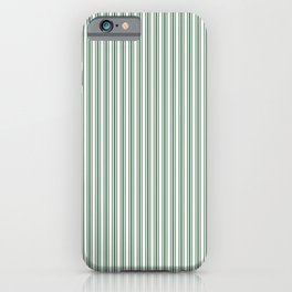 Classic Small Green Boot Green French Mattress Ticking Double Stripes iPhone Case