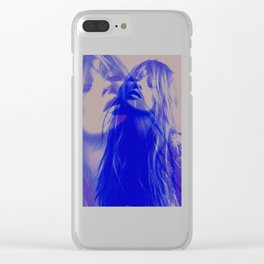 double Kate blues (kate moss) Clear iPhone Case