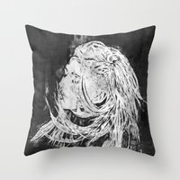 ellie goulding Throw Pillows featuring Ellie by Misha Libertee