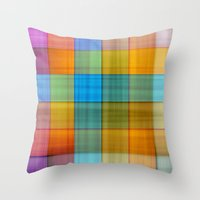 fabric Throw Pillows featuring Fabric by RingWaveArt
