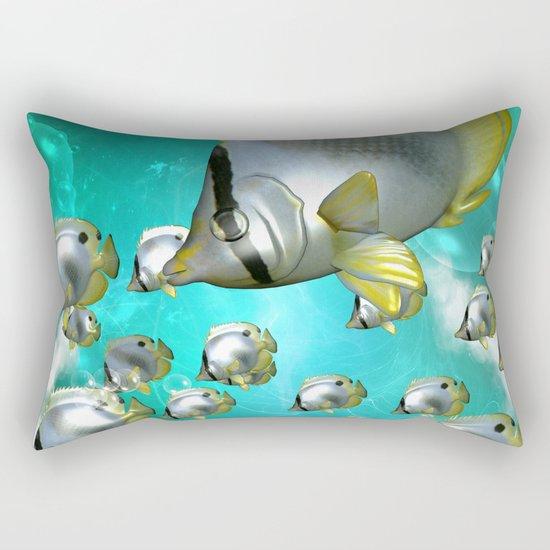 Wonderful butterflyfish  Rectangular Pillow
