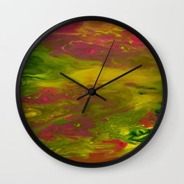 Colorful Abstract Acrylic Painting Wall Clock