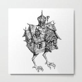 Baba Yaga's Hut Metal Print
