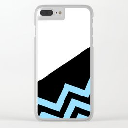 Blue on Black Clear iPhone Case