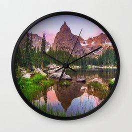 Lone Eagle Peak Wall Clock