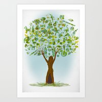 tree of life Art Prints featuring Life tree by Michelle Behar