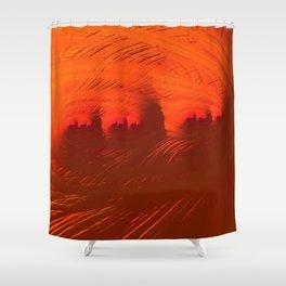 Mars City Sunset Shower Curtain