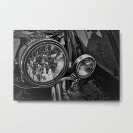 Motorcycle Headlight Metal Print
