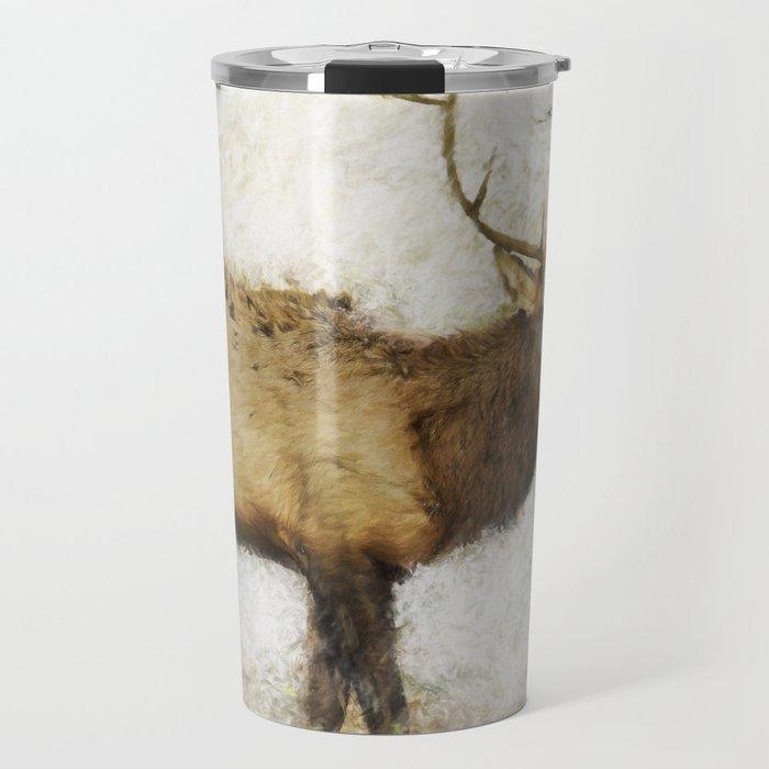 Grand Canyon Elk No. 1 Wintered Travel Mug