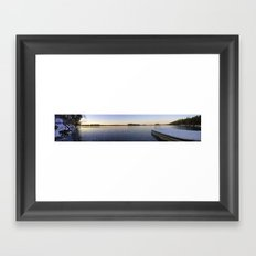 Frozen Sydenham Lake Sunset Framed Art Print