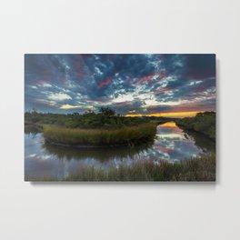Mississippi Coastal Sunrise Metal Print
