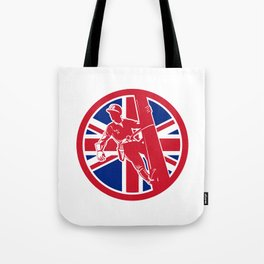British Linesman Union Jack Flag Icon Tote Bag