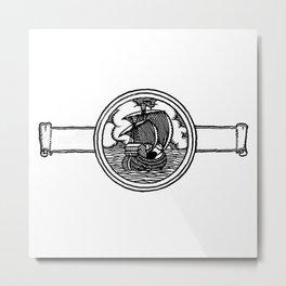 Ship stamp Metal Print
