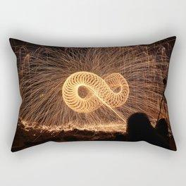 Infinite Fire Spin Rectangular Pillow