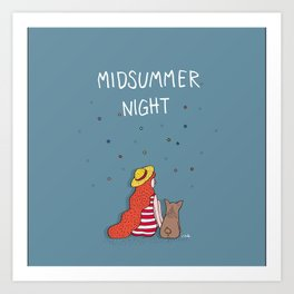 A MIDSUMMER NIGHT Art Print
