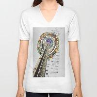 bridge V-neck T-shirts featuring bridge by Ashley Moye