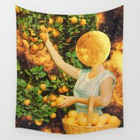 lsd Wall Tapestries featuring Space fruit by Mariano Peccinetti