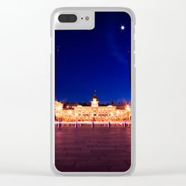 The square of Trieste during Christmas time Clear iPhone Case