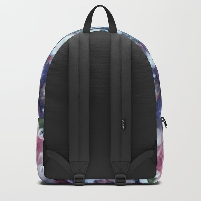 Blue and pink floral pattern Backpack